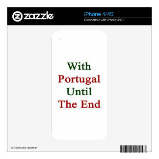 With Portugal Until The End iPhone 4 Skins