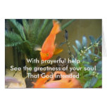 With Prayerful Help Stationery Note Card