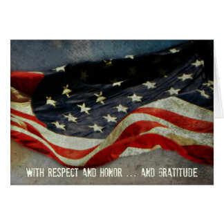 With Respect, Honor  - Thank You Veterans Day Card