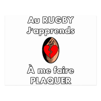 With Rugby, I learn how to make me plate Postcard