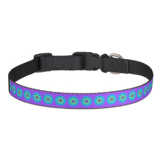 With Science Blue Pattern Pet Collar