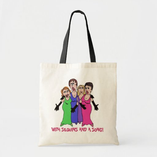 With Sequins and  Song! Canvas Bags