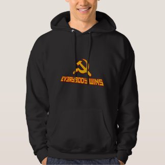 With Socialism Everybody Wins! funny hoodies