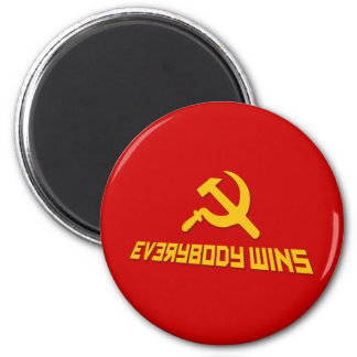 With Socialism Everybody Wins! Government Satire Magnet