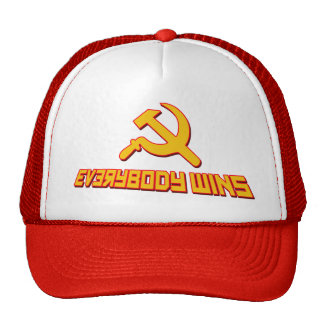 With Socialism Everybody Wins! Government Satire Trucker Hat