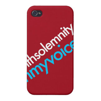 """""""With Solemnity In My Voice"""" iPhone 4/4S Cases"""