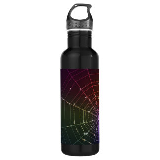 with spider line and transparent drop water bottle