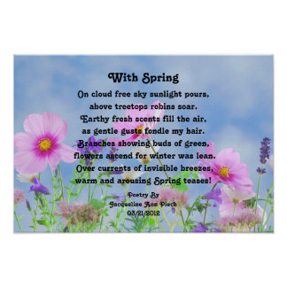 With Spring Poetry Poster