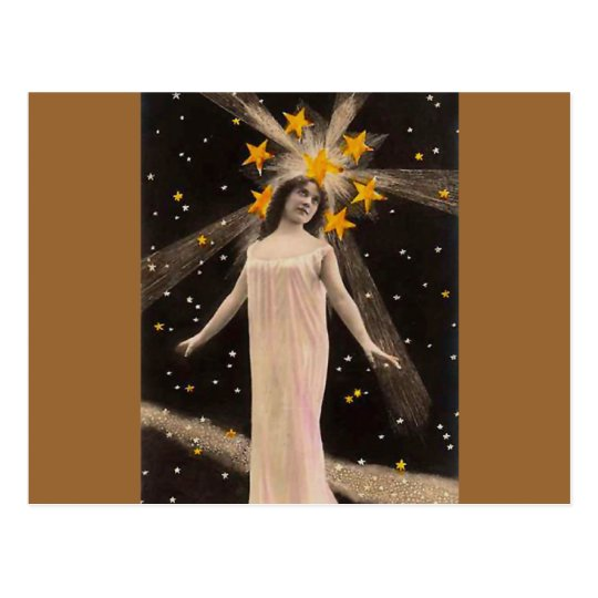 With Stars on Her Head Postcard