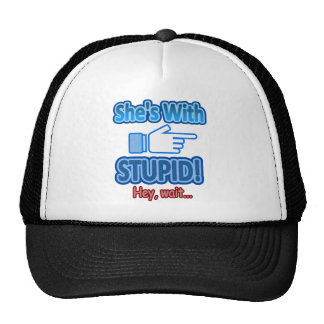 With Stupid Hand Pointing Design Trucker Hat