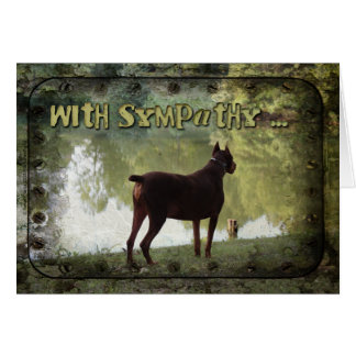 With Sympathy - Doberman Overlooking a Lake Greeting Card