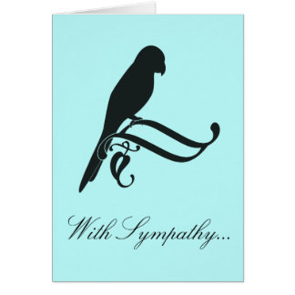With Sympathy for the Loss of a Parrot Greeting Card
