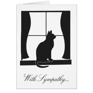 With Sympathy for the Loss of Your Cat Card