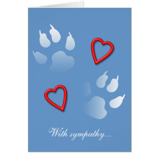 With Sympathy for the Loss of Your Dog Greeting Card