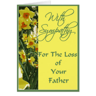 With Sympathy For the Loss of Your Father Card