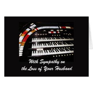 With Sympathy, Loss of Husband, Ancient Organ Card