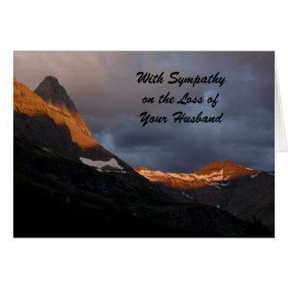 With Sympathy Loss of Husband , Glacier Sunrise Card