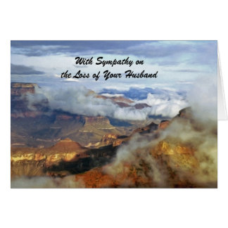 With Sympathy Loss of Husband, Grand Canyon Clouds Card