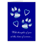 With Sympathy Loss of Your Dog Greeting Card