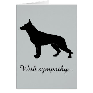 With Sympathy: Loss of Your German Shepherd Dog Card