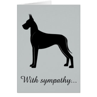 With Sympathy: Loss of Your Great Dane Card
