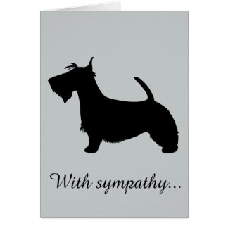 With Sympathy: Loss of Your Scottish Terrier Card