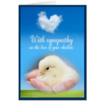 With sympathy on the loss of your chicken card