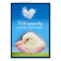 With sympathy on the loss of your chicken greeting card