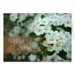 With Sympathy - white flowers Greeting Card