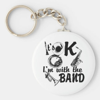 With the Band Basic Round Button Keychain