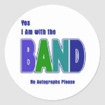 With the Band Round Stickers