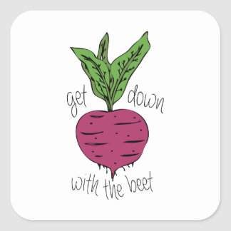 With The Beet Square Sticker