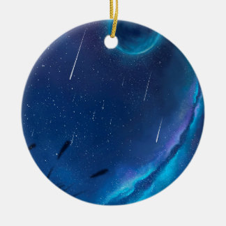With The Blessing Of The Stars Ceramic Ornament