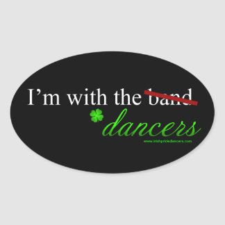 With the Dancers Oval Sticker 1