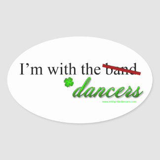 With the Dancers Oval Sticker 2
