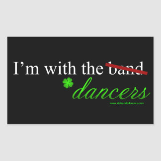 With the Dancers Rectangle Sticker 1