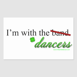 With the Dancers Rectangle Sticker 2