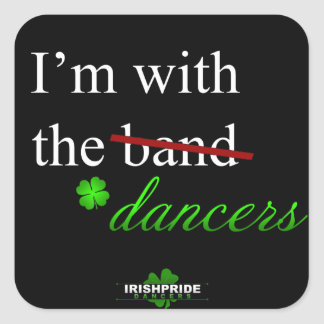 With the Dancers Square Sticker