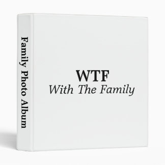 With The Family 3 Ring Binder