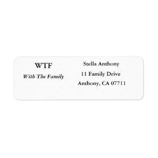 With The Family Address Labels