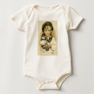 With The Feel of Vintage Baby Tee One Piece~Cat