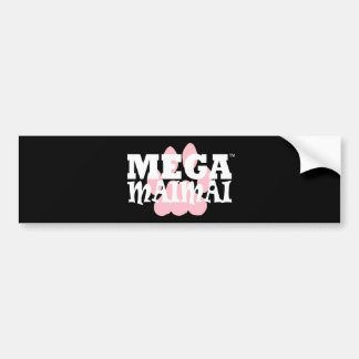 With the Paw color Pink Car Bumper Sticker