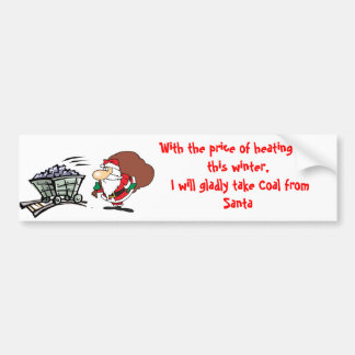With the price of coal Christmas. . . sticker