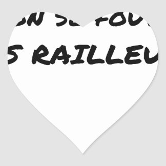 WITH the SNCF ONE SE FOUT OF the SCOFFERS - Word Heart Sticker