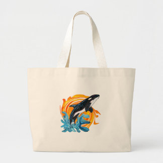 WITH THE SUNRISE LARGE TOTE BAG