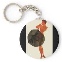 With the Wrong Sid Pin Up Art Keychain