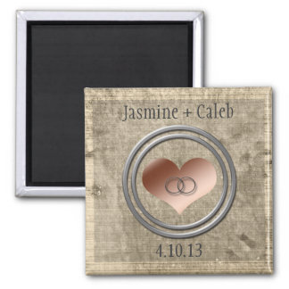 With This Ring by Shirley Taylor 2 Inch Square Magnet