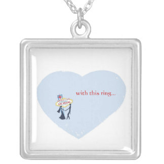 with this ring Las Vegas Heart Necklace