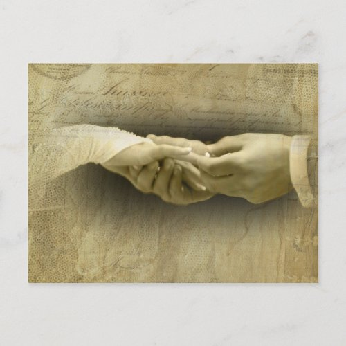 With this Ring Romantic Vintage Wedding Love postcard