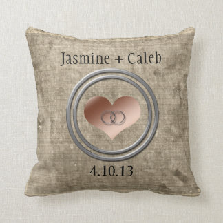 With This Ring Throw Pillow